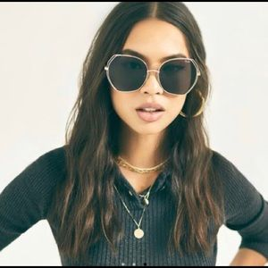 Quay Australia Big Love Gold Smoke Lens Sunglasses